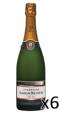 Sec 1er Cru - carton de 6 bouteilles - Champagne Gaston Révolte