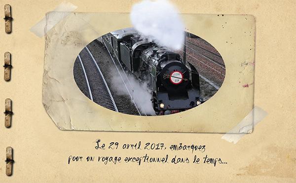 Voyage en train Vapeur à l'occasion des 16e caves ouvertes